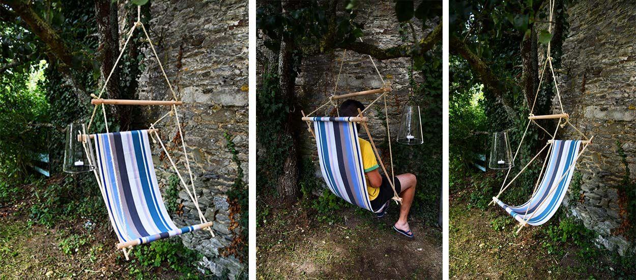 Tuto : Fabriquez un super fauteuil suspendu pour vous relaxer au jardin