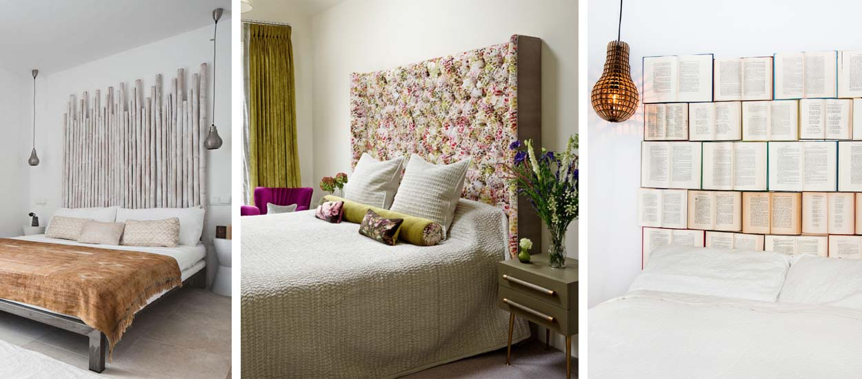 d coration 25 id es de t tes de lit originales ou. Black Bedroom Furniture Sets. Home Design Ideas
