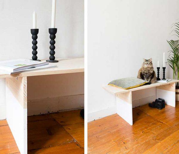 Tuto : Fabriquez un banc avec une planche en sapin en moins d'une heure !