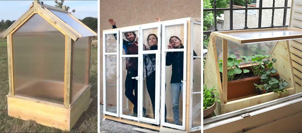8 id es pour fabriquer une serre avec des fen tres en tunnel ou pas cher. Black Bedroom Furniture Sets. Home Design Ideas