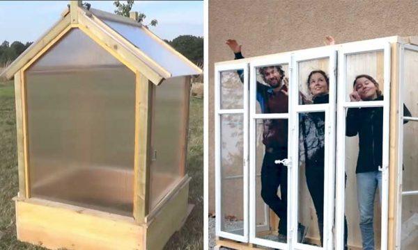 8 tutos pour fabriquer facilement une petite serre dans un jardin ou sur un balcon