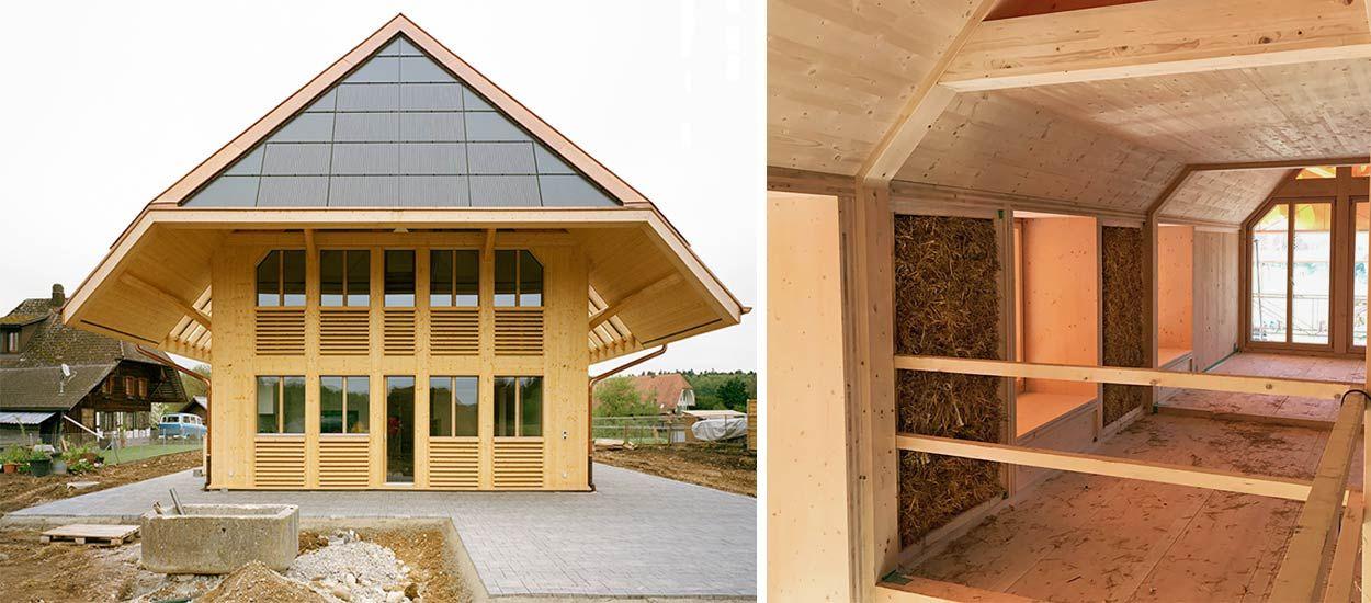 Grâce à ces gros murs en paille, cette maison est autosuffisante en énergie !