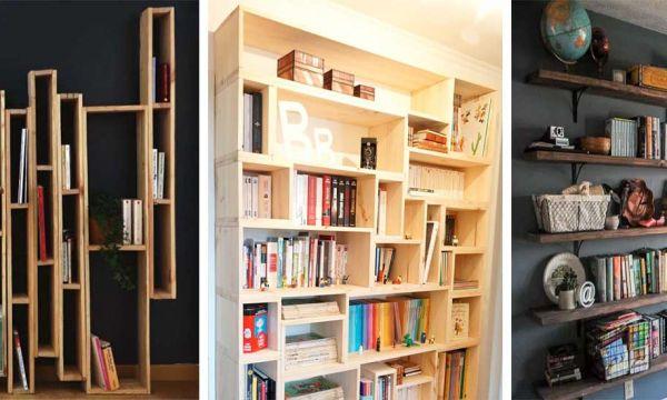 13 tutos faciles et inspirants pour fabriquer votre propre bibliothèque