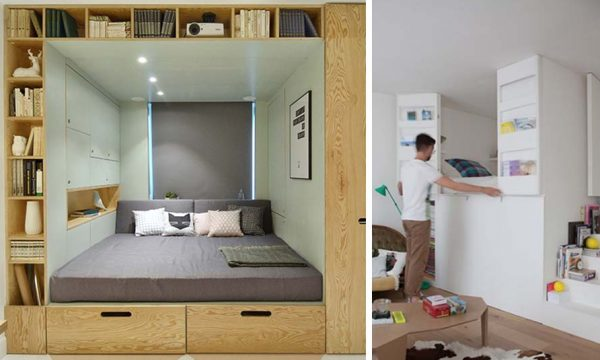 C'est certain, vous allez craquer pour un lit-boîte dans votre studio !