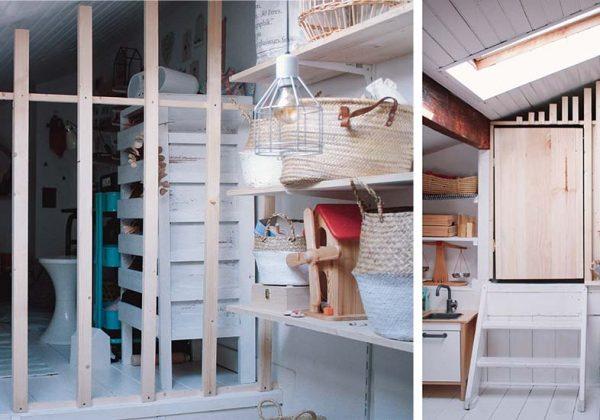 Cette cloison en bois permet de séparer la chambre de deux ...