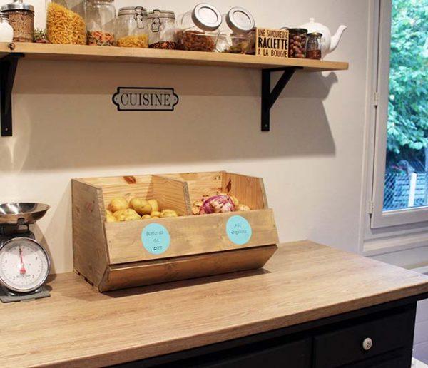 Tuto : Fabriquez un rangement pratique pour les pommes de terre et les oignons