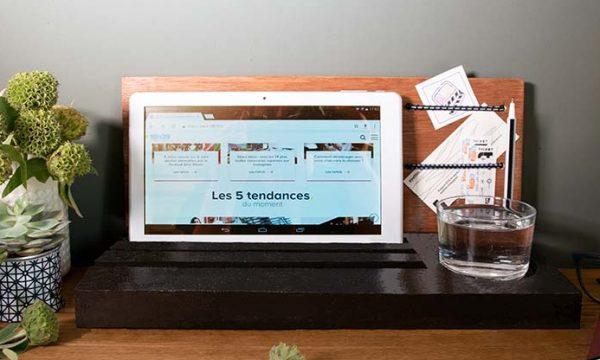 Tuto : Créez un support de tablette en béton qui sert aussi de vide-poches