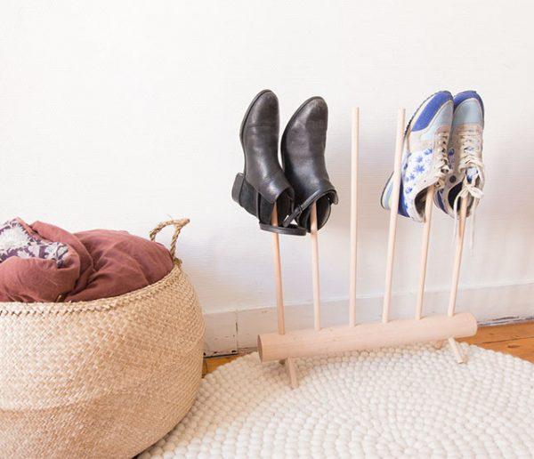 Tuto : Fabriquez un range-chaussures design avec un simple pied de meuble !
