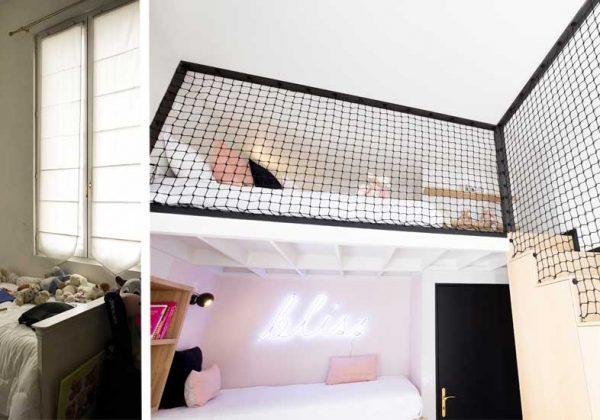 Avant / Après : une chambre de petite fille transformée en chambre d\'ado