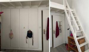 Avant / Après : Coup de filet pour dynamiser la mezzanine de cette chambre d'ado