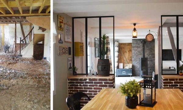 Avant / Après : Ils ont travaillé d'arrache-pied et leur rénovation style industriel est bluffante