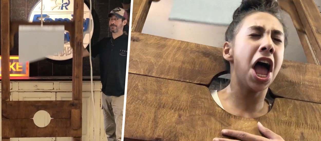 La meilleure déco Halloween : ce père a construit une guillotine (inoffensive) avec sa fille