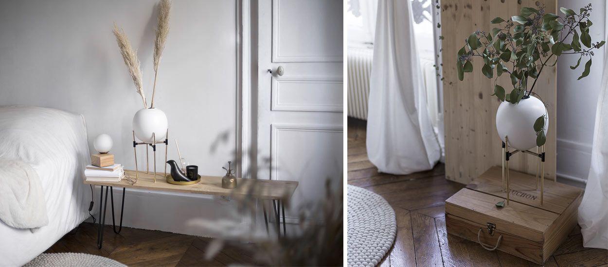 Tuto : Fabriquez un joli support de vase sur pied super tendance !