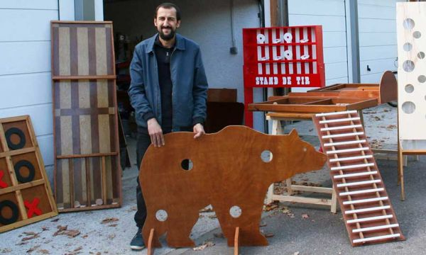 Ce bricoleur nancéen fabrique des jeux en bois géants avec du bois récup'