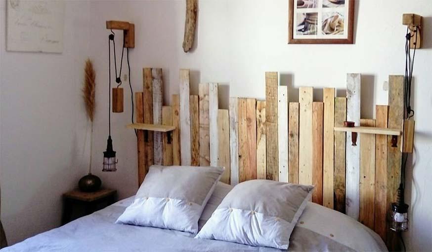 8 inspirations et diy pour construire une t te de lit avec. Black Bedroom Furniture Sets. Home Design Ideas