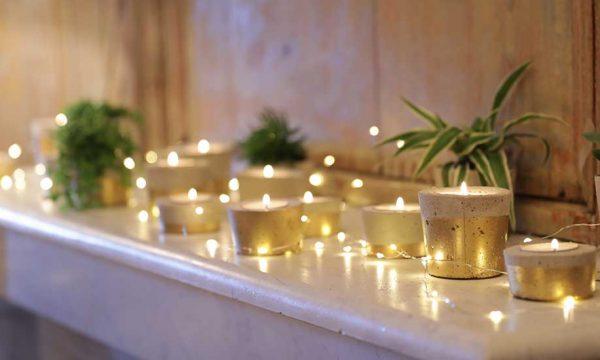 Tuto : Fabriquez des photophores en béton pour illuminer votre table de Noël