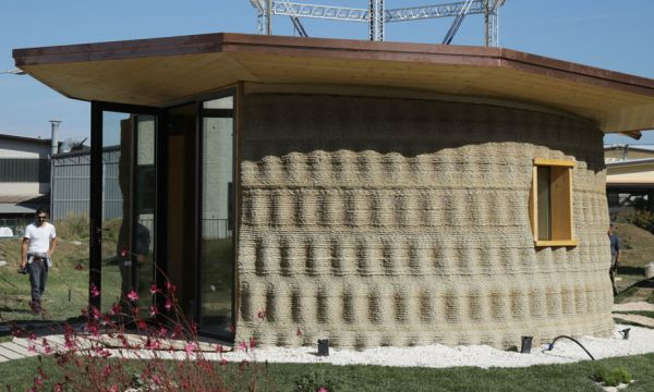 Cette maison écolo en paille est imprimée en 3D et ne coûte que 900 euros !