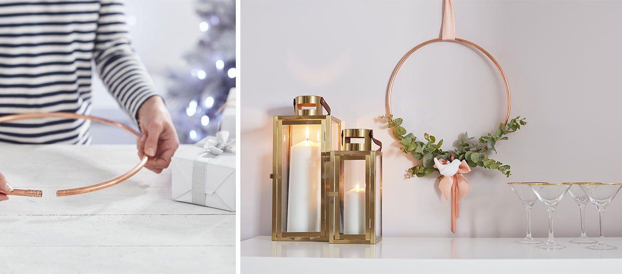 Tuto : Fabriquez une couronne de Noël en cuivre super déco en moins d'une heure !