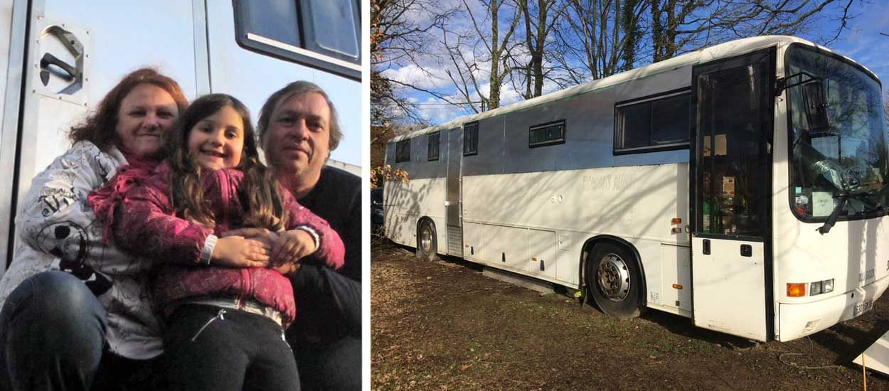Cette famille écolo a transformé un bus en maison tout confort