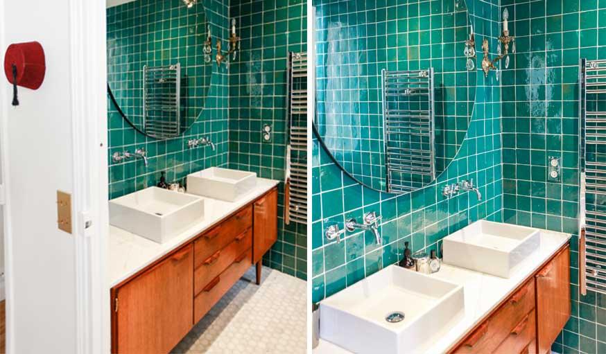Idée déco : Fabriquer un meuble de salle de bain avec un buffet enfilade