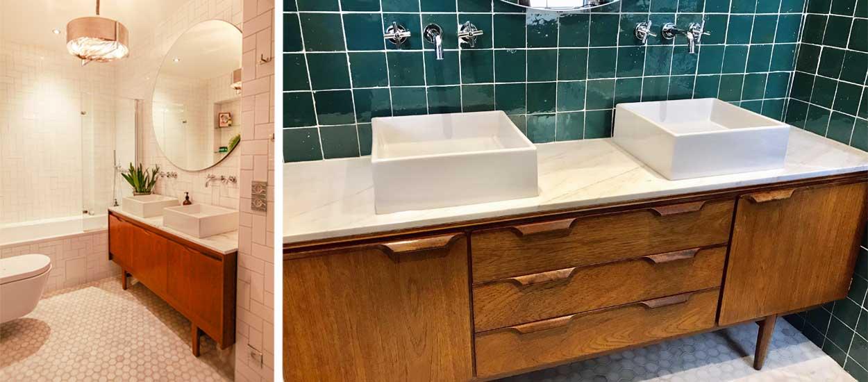 Idée déco : Fabriquer un meuble de salle de bain avec un ...