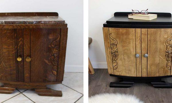 Tuto : Modernisez un vieux meuble de chevet tendance Art Déco