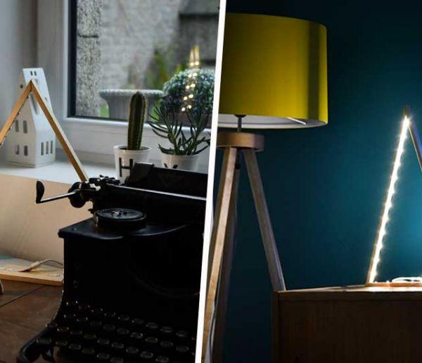 Tuto : Fabriquez une lampe en forme de sapin pour une déco de Noël minimaliste