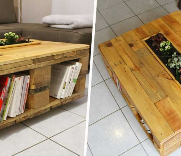 Diy Recup Fabriquez Une Table Basse En Palette 18h39 Fr
