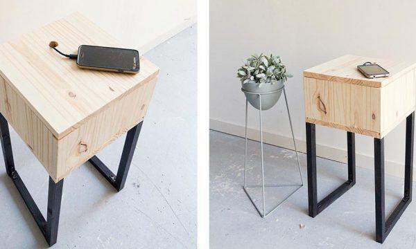 Tuto : Construisez facilement un petit meuble tendance qui recharge votre portable