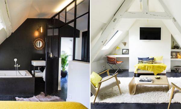Avant / Après : ce grenier d'un hôtel particulier a été transformé en appartement contemporain avec terrasse !