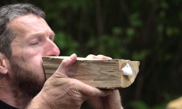 Voici une technique étonnante pour s'assurer que votre bois de cheminée est vraiment sec !