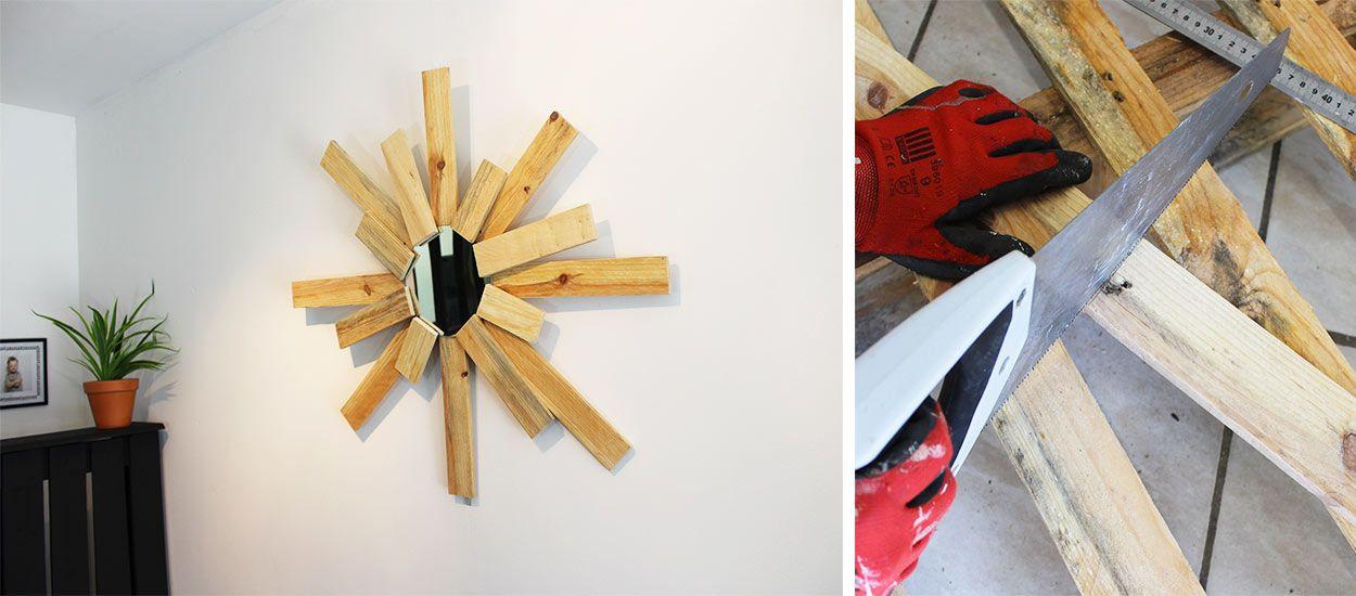 Tuto : Fabriquez un miroir soleil design en palette !