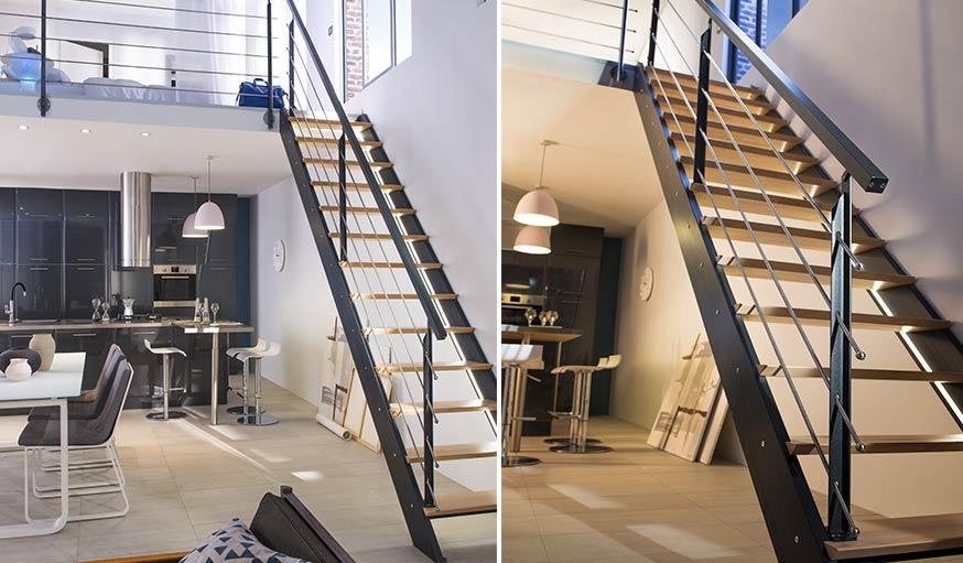 s lection d 39 escaliers d 39 int rieur colima on bois moderne et escamotable. Black Bedroom Furniture Sets. Home Design Ideas