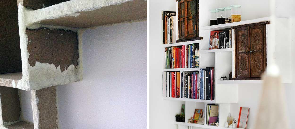 Tuto : Fabriquez une jolie étagère maçonnée... avec du papier toilette !