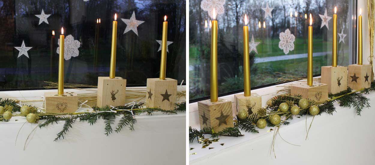 Tuto : fabriquez des bougeoirs de Noël en palette pour moins de 10 euros !