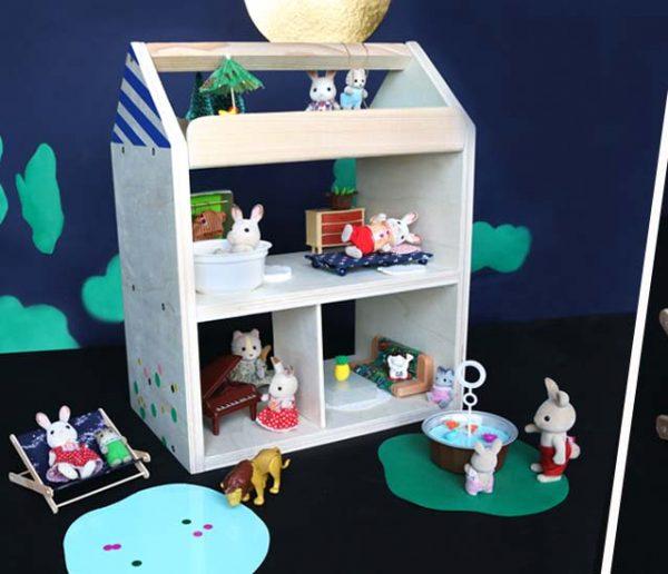Tuto Noël : Fabriquez une jolie maison de poupées personnalisable pour 20 euros !