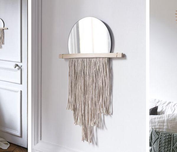 Tuto : Fabriquez votre propre miroir à frange pour une déco très bohème