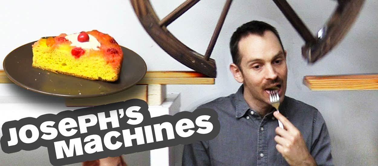 Il invente une machine incroyable pour se servir une part de tarte sans bouger