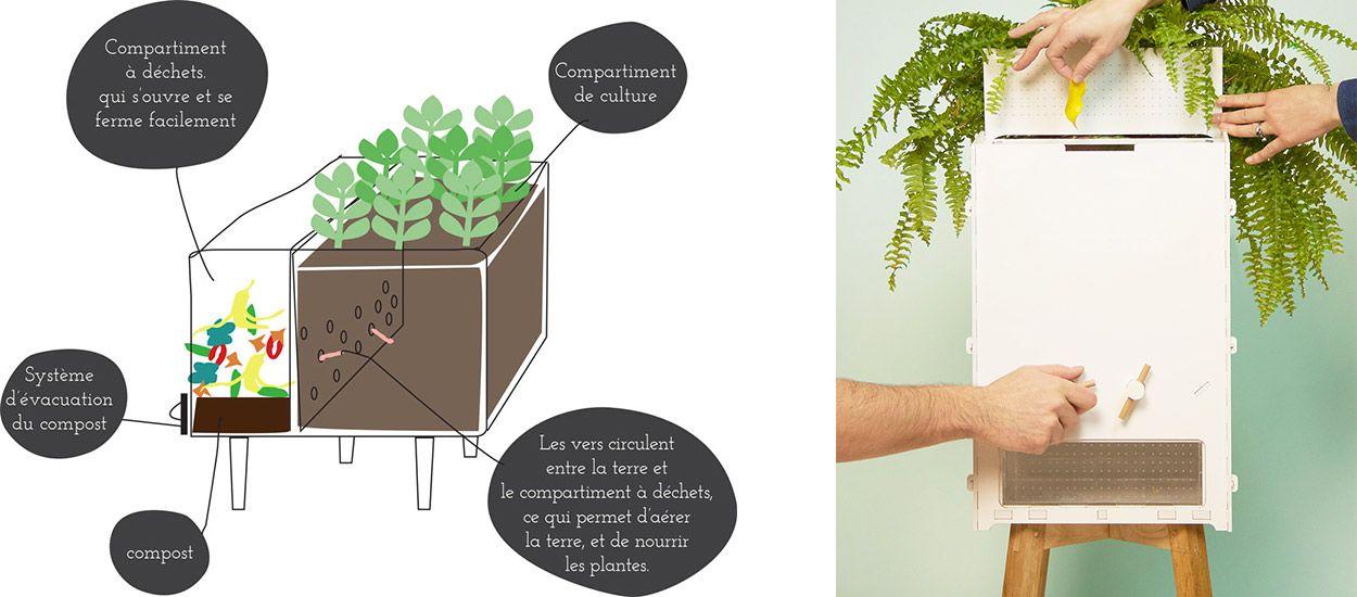 Plus jamais besoin d'arroser vos plantes grâce à ce pot de fleurs composteur !