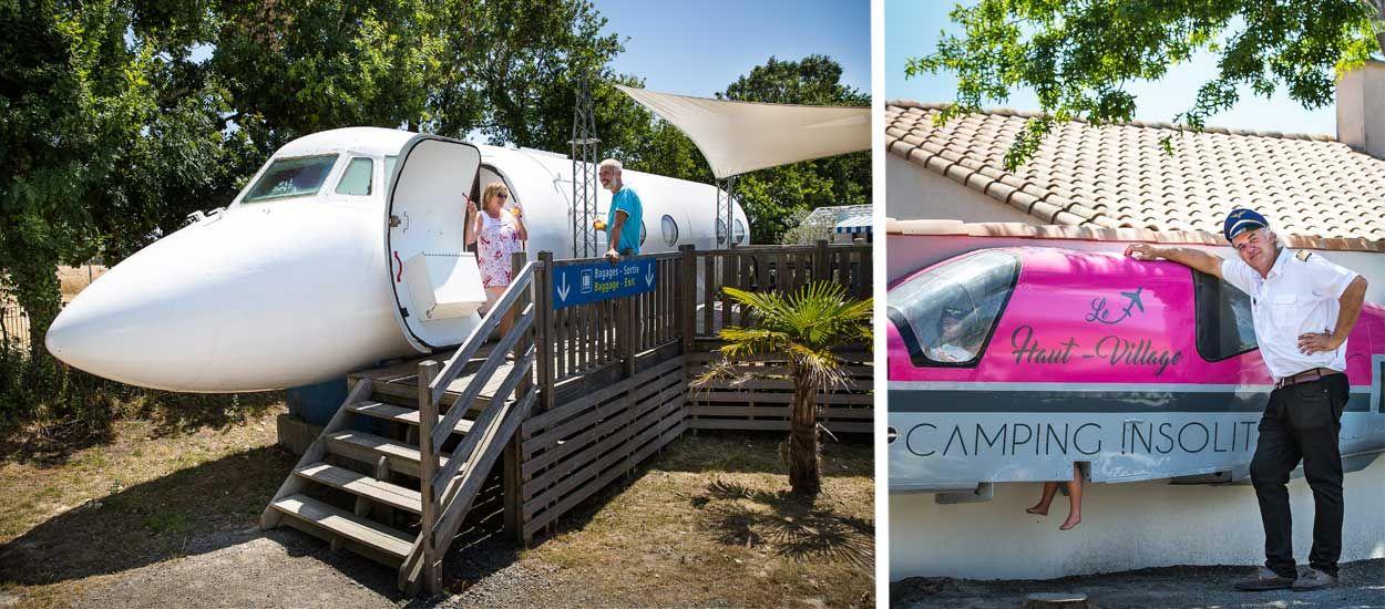 Ce directeur de camping transforme avions et wagons en drôles d'hébergements