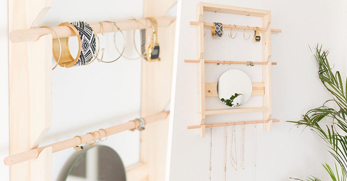 DIY : fabriquez un rangement à bijoux mural pour moins de 15 ...