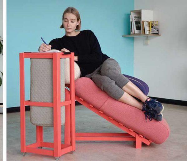 Ces bureaux ont été pensés pour travailler en tout confort, comme dans un lit !