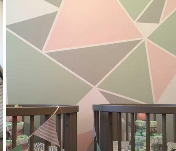 3 façons d'intégrer les motifs géométriques sur une peinture murale