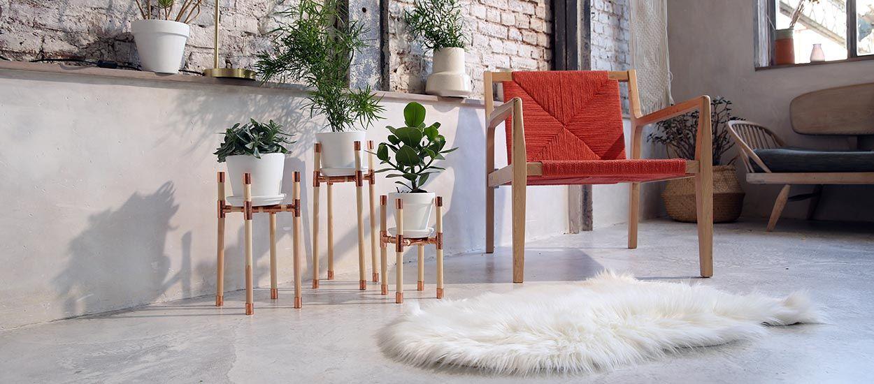 Tuto : Fabriquez un support tendance pour plantes, en bois et cuivre