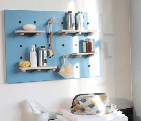 Tuto : Fabriquez une étagère murale modulable et ludique pour la salle de bains !