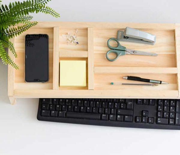 Tuto : Fabriquez un plateau pour ranger facilement vos affaires sur votre bureau