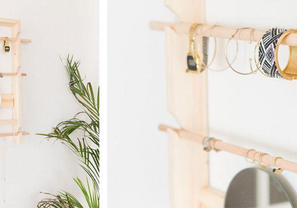 DIY : fabriquez un rangement à bijoux mural pour moins de 15 euros !