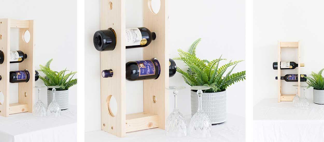 Tuto : fabriquez un porte-bouteilles en bois pour stocker votre vin !
