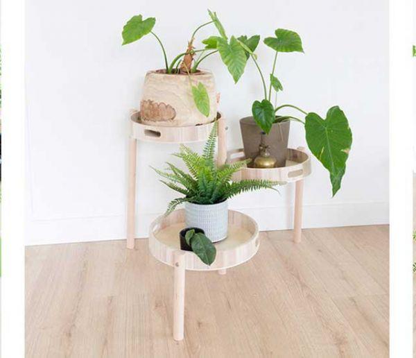 Tuto : Fabriquez un porte-plantes en bois pour une déco scandinave