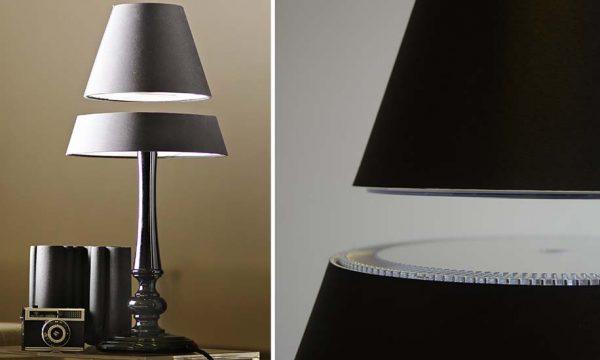 Découvrez comment l'abat-jour de cette lampe lévite !